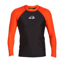 iQ UV Shirt Longsleeve Orange Black