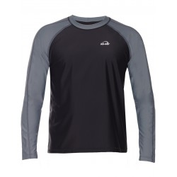 iQ UV 300 T-Shirt LS Beach & Boat Grey Black