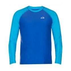 iQ UV 300 T-Shirt LS Beach & Boat Turquoise Blue