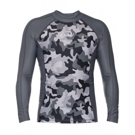 iQ UV 300 Shirt LS Watersport Camouflage Grey
