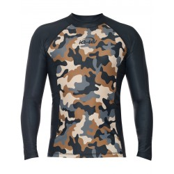 iQ UV 300 Shirt LS Watersport Camouflage Grey