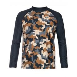 iQ UV 300 T-Shirt LS Beach & Boat Camouflage