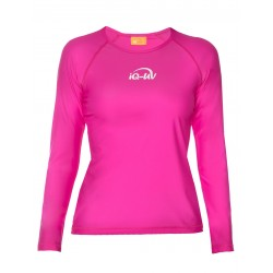 iQ UV 300 T-Shirt LS Pink
