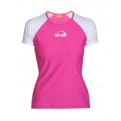 iQ UV 300 T-Shirt Beach & Boat White Pink