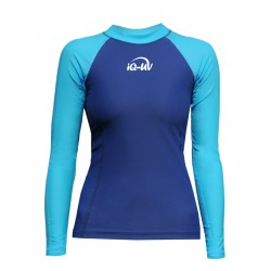 iQ UV 300 Shirt LS Watersport Turquoise Blue