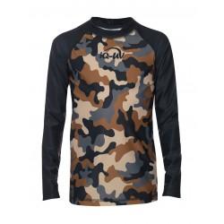 Koszulka iQ Kids UV 230 Shirt LS Camouflage