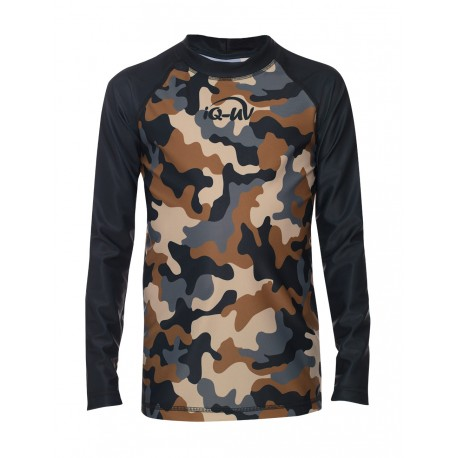 iQ Kids UV 230 Shirt LS Camouflage