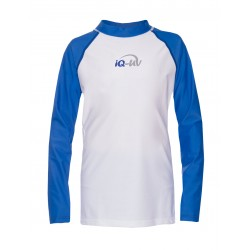iQ Kids UV 300 Shirt LS Blue White