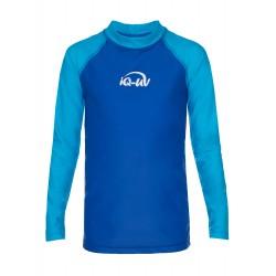 iQ Kids UV 300 Shirt LS Turquoise Blue