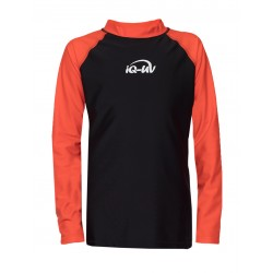 iQ Kids UV 300 Shirt LS Orange Black
