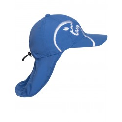 iQ UV 200 Cap with Neck Protection Blue