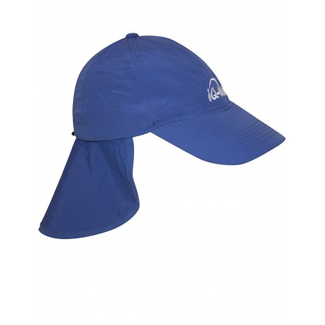 iQ UV 200 Cap with Neck Protection Dark Blue