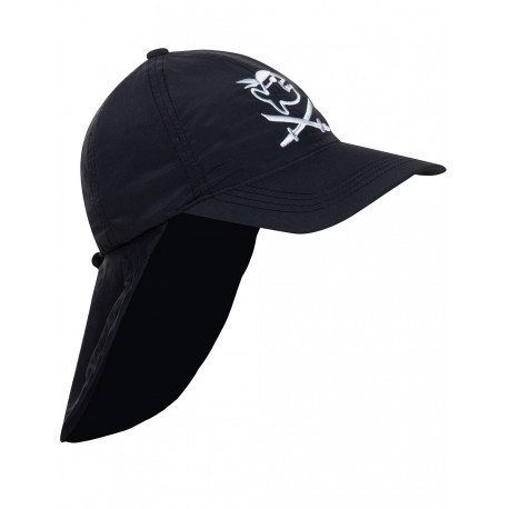 iQ Kids UV 200 Cap with Neck Protection Black