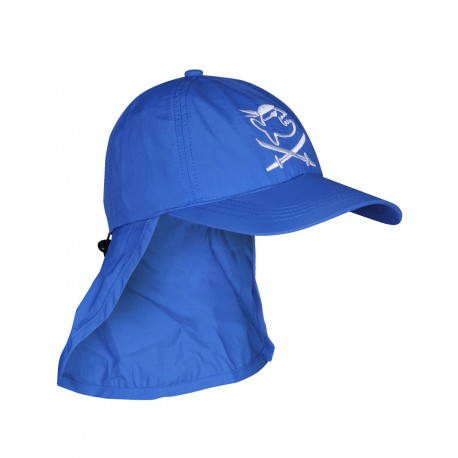 iQ Kids UV 200 Cap with Neck Protection Blue