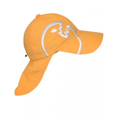 iQ Kids UV 200 Cap with Neck Protection Orange