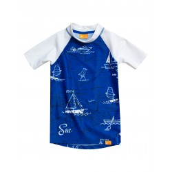 iQ UV 230 Shirt Sea Kids Blue