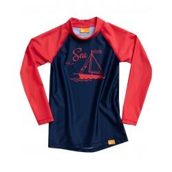 iQ UV 230 Shirt LS Sea Kids Dark Blue
