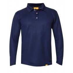 iQ UV Polo Shirt LS Men Casual & Outdoor Dark Blue