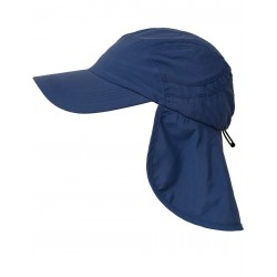 iQ UV 400 Cap with Neck Protection Dark Blue